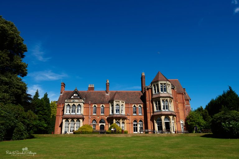 View of Highbury Hall from rear gardens on sunny day