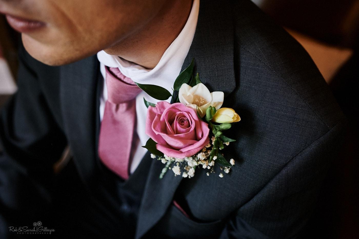 Groom's buttonhole flower