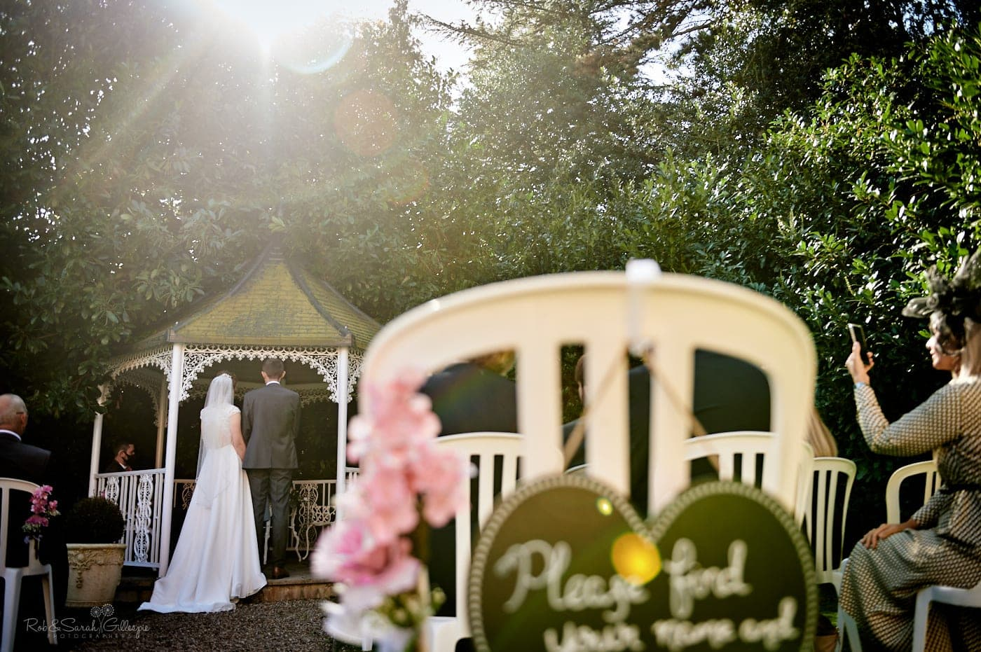 Small oudoor wedding ceremony at Pendrell Hall
