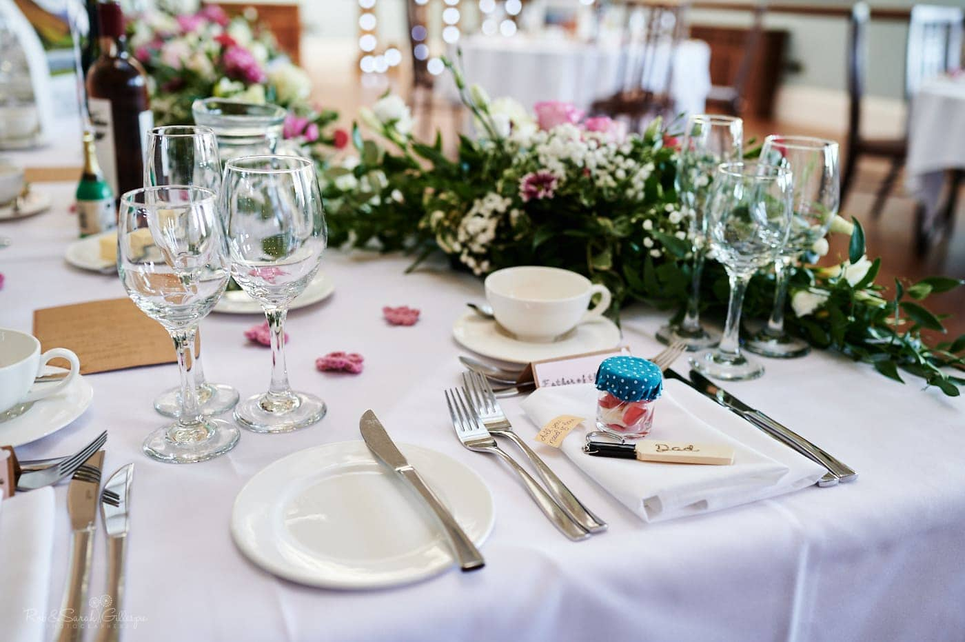 Table places for wedding meal