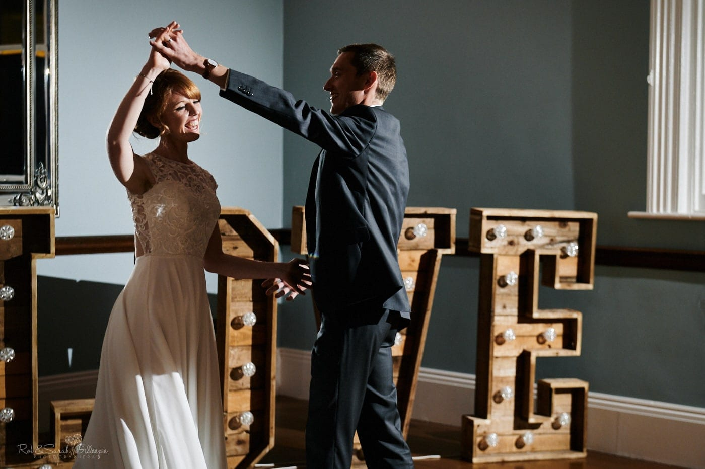 First Dance with bride and groom at Pendrell Hall