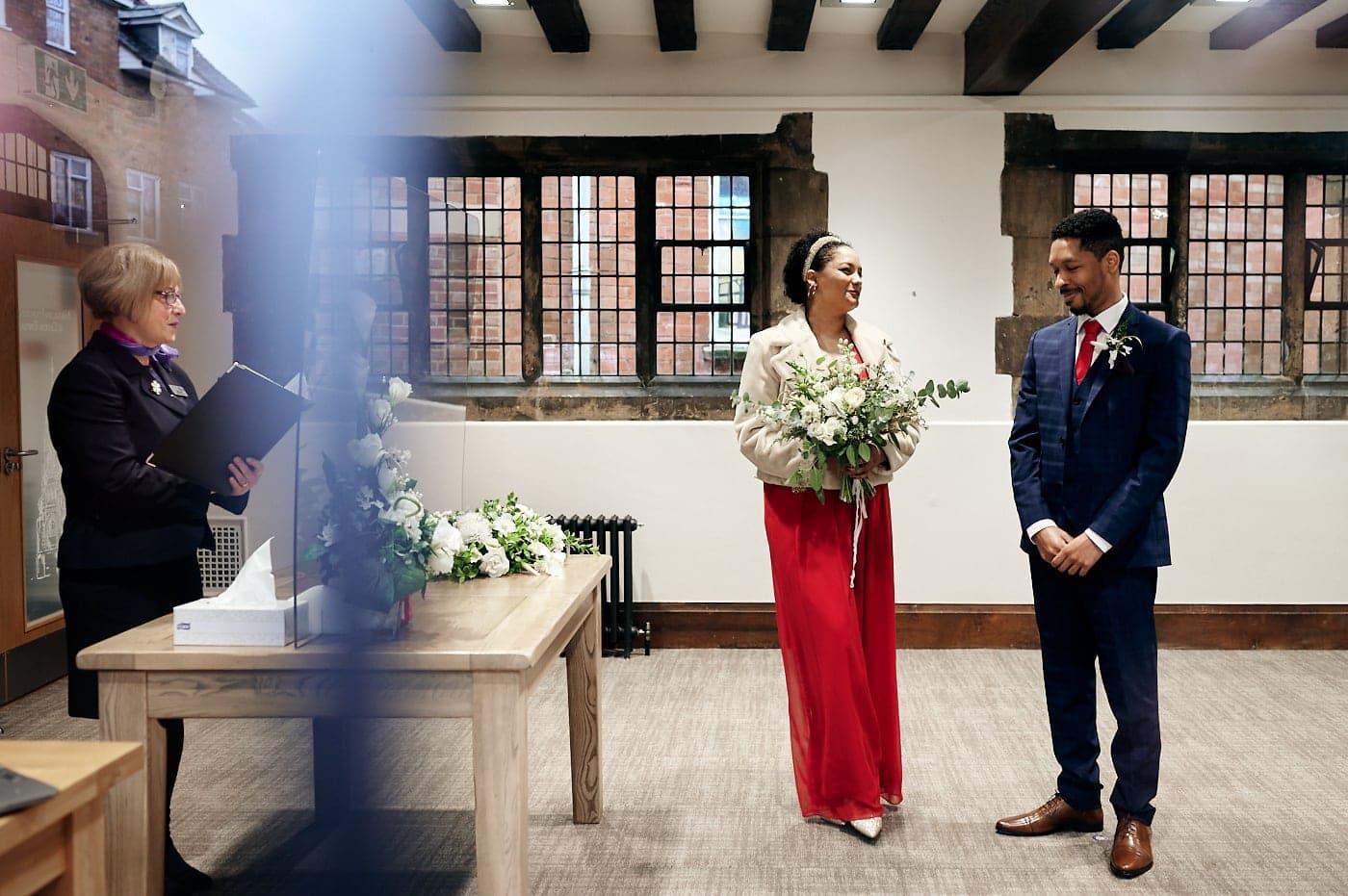 Wedding ceremony in The Henley Room Stratford-upon-Avon