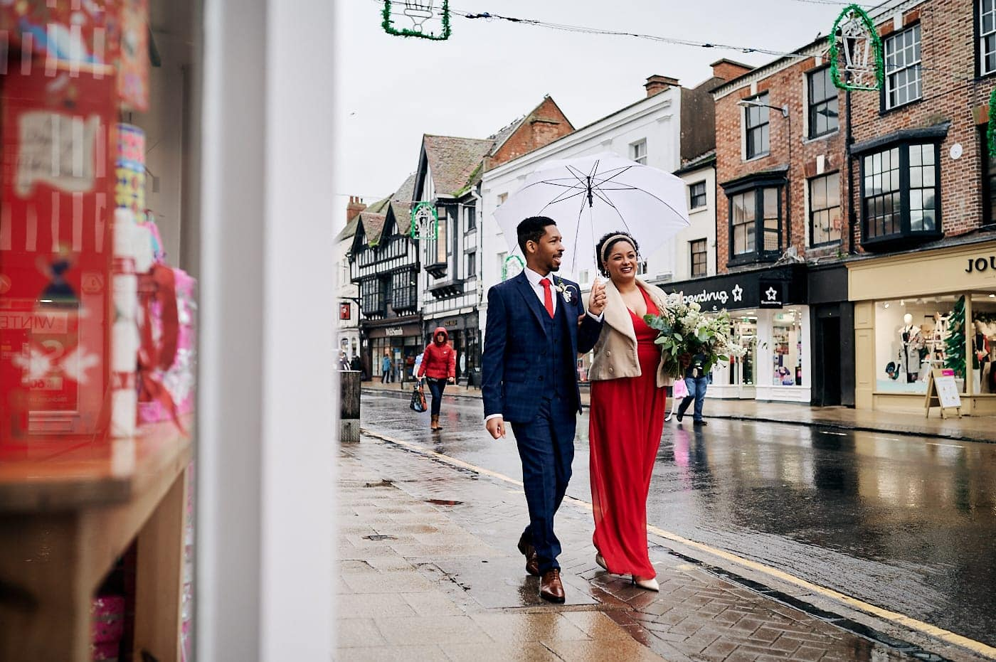 Bride and groom just married in Stratford-upon-Avon