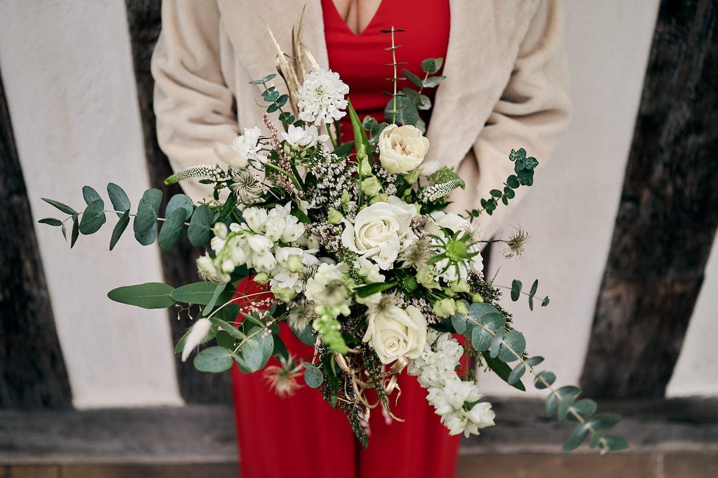 Detail of bride's bouquet