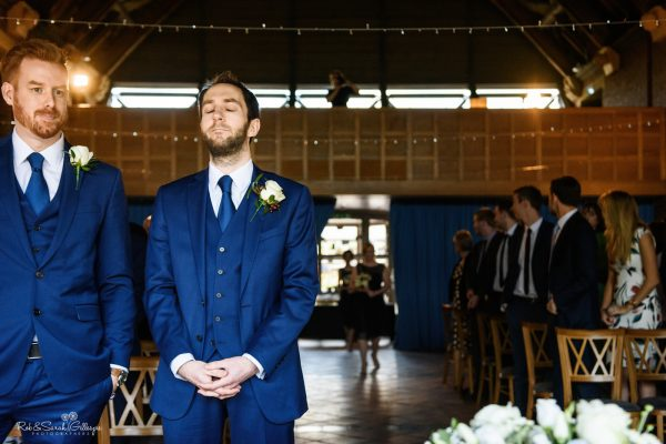 Groom nervous as wedding ceremony starts at Avoncroft Museum