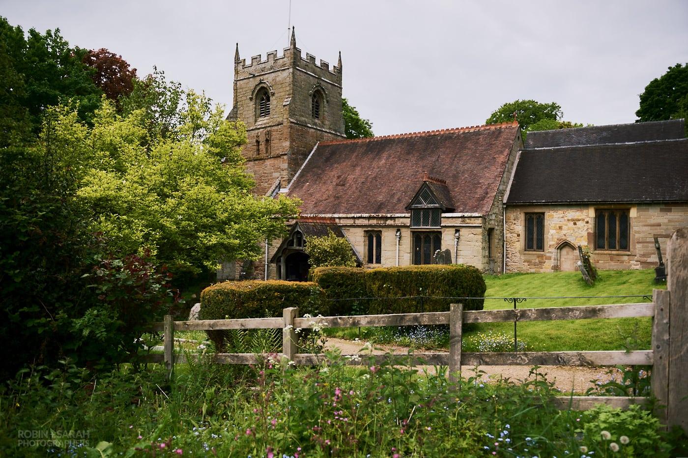 View of St Leonard's church in Beoley near Redditch